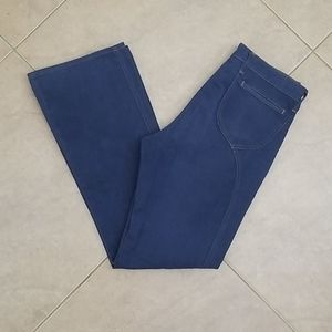 VTG 70s Indigo Blue Bell Bottom Jeans